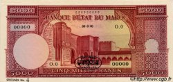 5000 Francs type Mechouar Rabat MAROC  1951 P.48s pr.NEUF