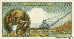 50 Dirhams MAROC  1968 P.55c SUP+