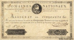 50 Livres FRANCE  1790 Laf.129 TTB+