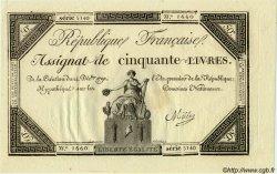 50 Livres FRANCE  1792 Laf.164 SPL
