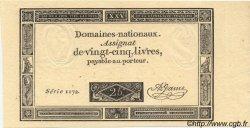 25 Livres FRANCE  1793 Laf.168 NEUF
