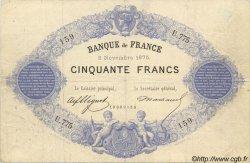 50 Francs 1868, INDICES NOIRS FRANCE  1875 F.A38.09 pr.TTB