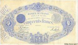 500 Francs 1863, INDICES NOIRS modifié FRANCE  1883 F.A49.02 TTB