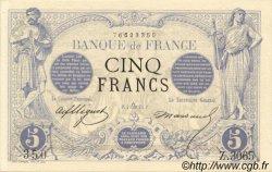 5 Francs NOIR FRANCE  1873 F.01.22 pr.NEUF