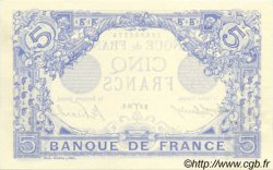 5 Francs BLEU FRANCE  1916 F.02.37 SUP