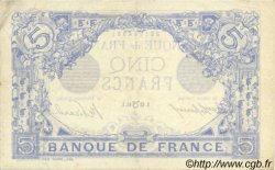 5 Francs BLEU lion inversé FRANCE  1916 F.02bis.04 SUP+