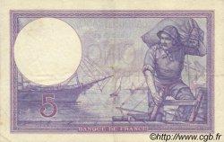 5 Francs VIOLET FRANCE  1917 F.03.01 SUP