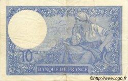 10 Francs MINERVE FRANCE  1920 F.06.04 TTB