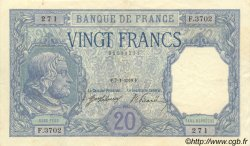 20 Francs BAYARD FRANCE  1918 F.11.03 SUP
