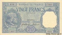 20 Francs BAYARD FRANCE  1918 F.11.03 pr.SPL
