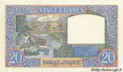 20 Francs SCIENCE ET TRAVAIL FRANCE  1940 F.12.04 SPL+
