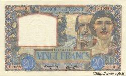 20 Francs SCIENCE ET TRAVAIL FRANCE  1942 F.12.21 pr.NEUF