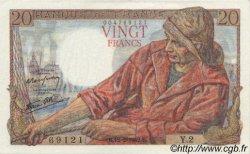 20 Francs PÊCHEUR FRANCE  1942 F.13.01 SPL+