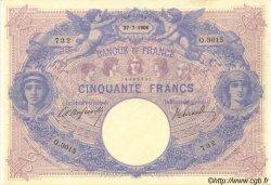 50 Francs BLEU ET ROSE FRANCE  1906 F.14.18 SUP+