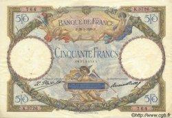50 Francs LUC OLIVIER MERSON FRANCE  1929 F.15.03 TTB+ à SUP