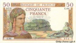 50 Francs CÉRÈS FRANCE  1934 F.17.02 SUP+