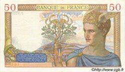 50 Francs CÉRÈS modifié FRANCE  1939 F.18.19 SUP