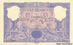 100 Francs BLEU ET ROSE FRANCE  1906 F.21.20 SUP+