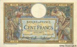100 Francs LUC OLIVIER MERSON sans LOM FRANCE  1917 F.23.09 SUP