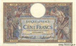 100 Francs LUC OLIVIER MERSON sans LOM FRANCE  1919 F.23.11 TTB à SUP