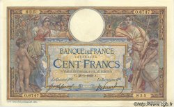 100 Francs LUC OLIVIER MERSON sans LOM FRANCE  1920 F.23.12 TTB à SUP