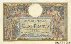 100 Francs LUC OLIVIER MERSON grands cartouches FRANCE  1925 F.24.03 TTB à SUP