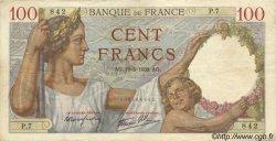 100 Francs SULLY FRANCE  1939 F.26.01 TTB