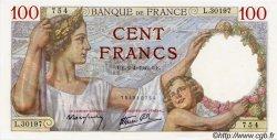 100 Francs SULLY FRANCE  1942 F.26.69 NEUF