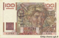 100 Francs JEUNE PAYSAN filigrane inversé FRANCE  1952 F.28bis.01 pr.NEUF