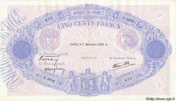 500 Francs BLEU ET ROSE modifié FRANCE  1939 F.31.51 SUP