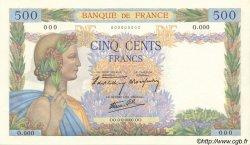 500 Francs LA PAIX FRANCE  1940 F.32.00s1a NEUF