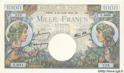 1000 Francs COMMERCE ET INDUSTRIE FRANCIA  1944 F.39.12