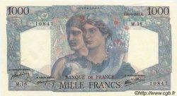 1000 Francs MINERVE ET HERCULE FRANCE  1945 F.41.02 pr.SPL