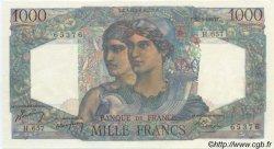 1000 Francs MINERVE ET HERCULE FRANCE  1950 F.41.32 SUP+ à SPL