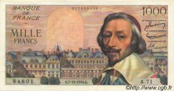 1000 Francs RICHELIEU FRANCE  1954 F.42.08 SUP+