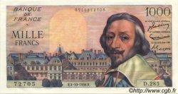 1000 Francs RICHELIEU FRANCE  1956 F.42.22 SUP à SPL