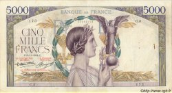 5000 Francs VICTOIRE Taille Douce FRANCE  1934 F.44.01 TB