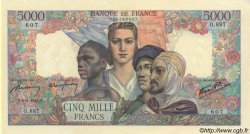 5000 Francs EMPIRE FRANÇAIS FRANCE  1945 F.47.37 SUP+