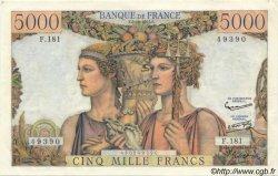 5000 Francs TERRE ET MER FRANCE  1957 F.48.17 SPL