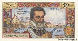 50 Nouveaux Francs HENRI IV FRANCE  1959 F.58.03 SPL
