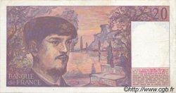 20 Francs DEBUSSY FRANCE  1986 F.66.07 pr.SUP