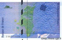50 Francs St. EXUPÉRY impression FAUTÉE FRANCE  1992 F.72.01b NEUF