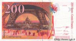 200 Francs EIFFEL pont en haut FRANCE  1996 F.75ter.01 SUP
