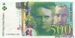 500 Francs PIERRE ET MARIE CURIE FRANCE  1995 F.76.02 SUP à SPL