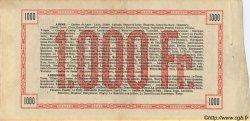 1000 Francs FRANCE régionalisme et divers  1915 -- SUP