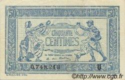 50 Centimes TRÉSORERIE AUX ARMÉES FRANCE  1919 VF.02.04 SUP à SPL