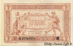 1 Franc TRÉSORERIE AUX ARMÉES FRANCE  1917 VF.03.13 SUP