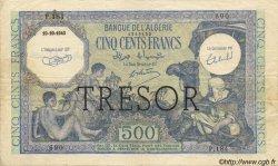 500 Francs ALGÉRIE SURCHARGÉ FRANCE  1943 VF.09.01 TTB