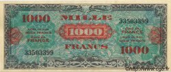 1000 Francs DRAPEAU FRANCE  1944 VF.22.01 SUP+