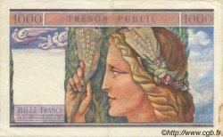 1000 Francs TRÉSOR PUBLIC FRANCE  1955 VF.35.01 pr.SUP